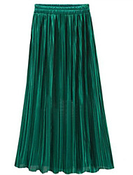Fashion Wild Summer Pleated Was Thin Elegant Simple Long Skirt Dating Party Daily Leisure Home Must Chiffon Skirt