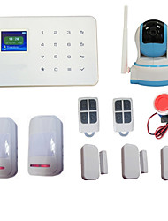 Wireless GSM Home House Burglar Alarm System Call SMS App Security + Alarma Wifi Ip Camera 720p HD Night vision PTZ