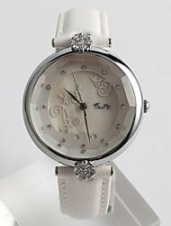 Women's Fashion Watch Quartz / PU Band Flower Casual White Brand