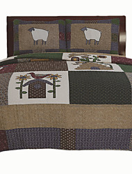 "3PC Quilt Sets Full Cotton Seamed 92""W*106""L"