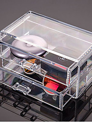 Acrylic Makeup Organizer Clear Makeup Display Jewellery Organizer Storage Acrylic Cosmetic 2 Drawer Stand
