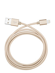 IMF 8pin torcedura cable de datos USB de sincronización de tejido de nailon cable de carga para el iPhone5 6 6 más ipad transmisión de