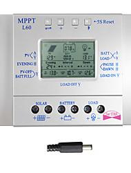 lcd 60a batterie panneau solaire 12v régulateur de charge du régulateur 24v pwm usb