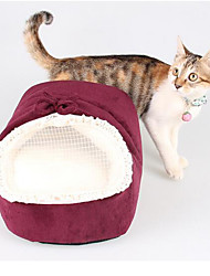 Cat Dog Bed Pet Mats & Pads Solid Soft Ruby Green