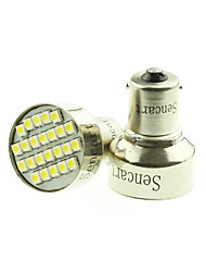 1156 Ba15s 24x3528SMD Warm / Warm White Car Bulb Light Brake / Turn / Tail / Reverse DC12-16V