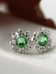 Stud Earrings Crystal Luxury Crystal Zircon Cubic Zirconia Austria Crystal Imitation Diamond Jewelry For Daily Casual