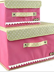 Storage Boxes Storage Units Storage Baskets Textile withFeature is Open  For Jewelry Underwear Cloth 2pcs