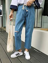 assinar 2017 coreia compra de pequeno orifício de trepanação em Harlan usar meia-calça cintura jeans reta