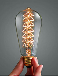 ST64 árvore de Natal decoração da lâmpada incandescente de tungstênio clássico 40w e27