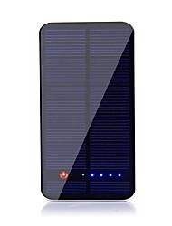 10000mAhmAhPower Bank Внешняя батарея Зарядка от солнца Несколько разъемов 10000mAh 1000mA / 2100mA Зарядка от солнца Несколько разъемов