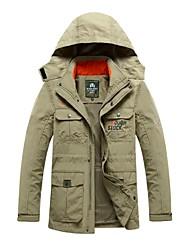 Wandern Vliesjacken / Vliesen Softshell Jacken HerrnWasserdicht Atmungsaktiv warm halten Windundurchlässig UV-resistant Isoliert