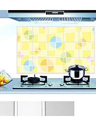 Lovely Wave Point Of Kitchen Ceramic Tile Wall Prevent Oil Stickers