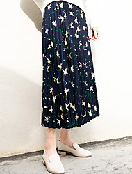 New fall fashion retro female students loose big yards long section of chiffon pleated skirts organ