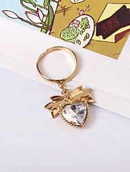 Ring Gold Plated Glass Alloy Heart White Jewelry Daily Casual 1pc