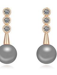 Women's Stud Earrings Pearl Natural Luxury Zircon Cubic Zirconia Alloy Jewelry Jewelry For Daily