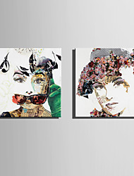 E-HOME Stretched Canvas Art Poster Collage Of Woman  Decoration Painting One Pcs