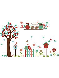 Wall Stickers Wall Decals Style The Owl Tree PVC Wall Stickers
