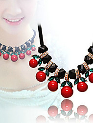 Cherry pendant necklace chain accessories female fashion clothes collar sweater chain 0452#