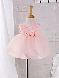 Baby Formal Dress,Polyester Summer Pink
