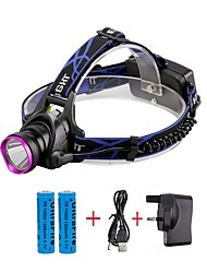 U'King® ZQ-X804#2-UK CREE XM-L T6 2000LM 3Modes Zoomable Headlamp Kit Purple Head