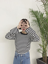 Snow Sign capitalized wild horn sleeve striped sweater / 2 colors