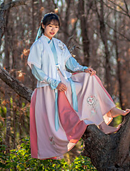 Ethnic Traditional Chinese clothing female daily half-arms + + cross collar jacket skirt waist embroidery lovely three-piece