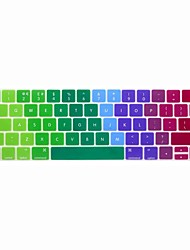 XSKN® European English Colorful Silicone Keyboard Skin and Touchbar Protector for 2016 Newest MacBook Pro 13.3/15.4 with Touch Bar Retina