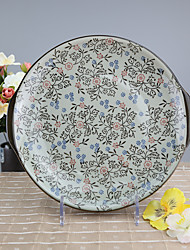 Arika Flowery Styled Porcelain Serving/Fruit Plate Dinnerware