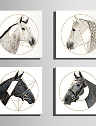 E-HOME® Stretched Canvas Art Geometry And Horse Series Decoration Painting MINI SIZE One Pcs