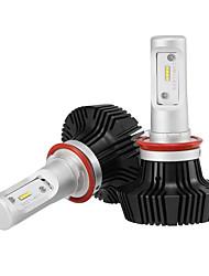 H11 led phares led phares avec 2 pièces de kits de conversion 25w / 2pcs 5000lm bridgelux cob chips antibrouillard