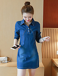 Signe 2017 printemps nouvelle mode coréenne denim habillement européen jambe slim un mot jupe