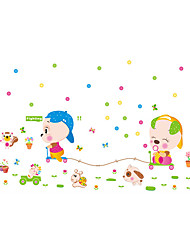 Wall Stickers Wall Decals Style Animal Race PVC Wall Stickers