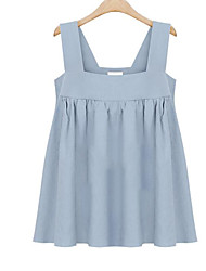 2017 spring and summer in Europe and America new solid color atmosphere cute little camisole large size thin women