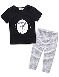 Boy Kids Clothes Leisure Suit Kids Letter Printing Cottom T-shirt Pants Baby Clothing Boys Set
