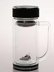Transparente Ir Artigos para Bebida, 400 ml Reutilisável Vidro chá Xícaras de Chá