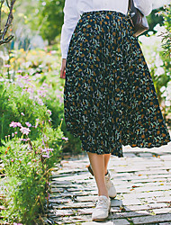 Model real shot price is not less than 43, paragraph number attribute their editors pleated floral skirts