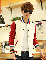 Men's Casual/Daily Sports Active Hoodie Jacket Solid Color Block V Neck Micro-elastic Cotton