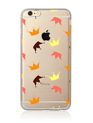 Para Transparente Diseños Funda Cubierta Trasera Funda Azulejos Suave TPU para AppleiPhone 7 Plus iPhone 7 iPhone 6s Plus iPhone 6 Plus