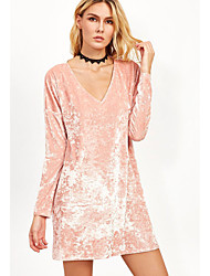 2017 commerce extérieur en Europe et en Amérique nouvelle aliexpress ebay explosion modèles v-cou manches longues t-shirt robe