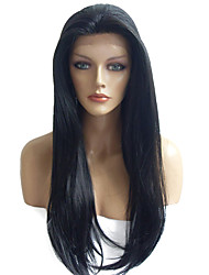 Lace Front Wig Synthetic Fiber Wig Natural Black Party Costume Wig Hairstyle