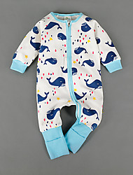 Baby Striped One-Pieces,Cotton Winter Long Sleeve