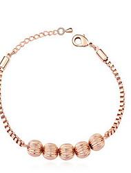 Mulheres Bracelete Jóias Amizade Moda Zircão Liga Forma Geométrica Ouro Rose Jóias Para Festa Aniversário 1peça