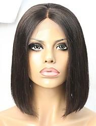 Short Hair Cut 150% Bob Style Human Hair Glueless Lace Front Wig
