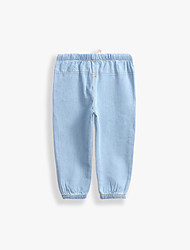 Unisex Casual/Daily Solid Jeans-Cotton Spring