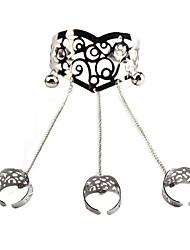 Femme Bracelets Bagues Bijoux Mode Vintage Style Punk Gemme Alliage Forme Géométrique Or Argent Bijoux Pour Occasion spéciale 1pc