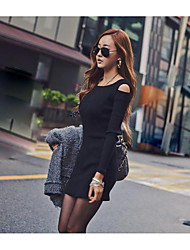 The new dress sexy nightclub Slim thin package hip skirt strapless long-sleeved dress