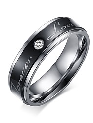 Fashion Lovers' Ring Black Couple Love Forever Rings for Women Men Jewelry Party High Quality Stainless Steel Accessories 136