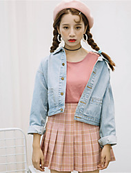 Sign 2016 Four Seasons wild Korean version of the new denim jacket