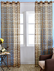 One Panel Curtain Country Neoclassical Mediterranean Rococo European Living Room Polyester Material Sheer Curtains Shades Home Decoration