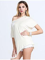 comércio exterior de grandes dimensões mulheres bat quinto manga aliexpress irregular t-shirt explosão